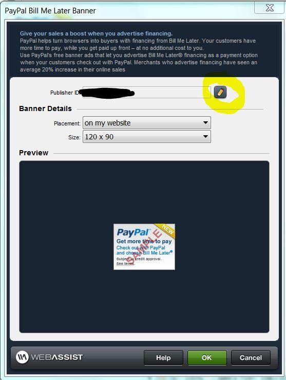 how to pay bill me later with paypal