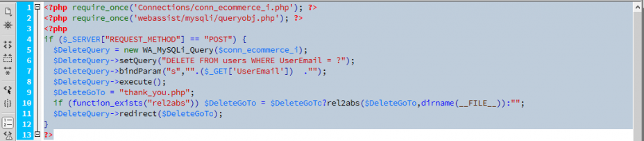 Web development tutorial | Insert, update, delete records
