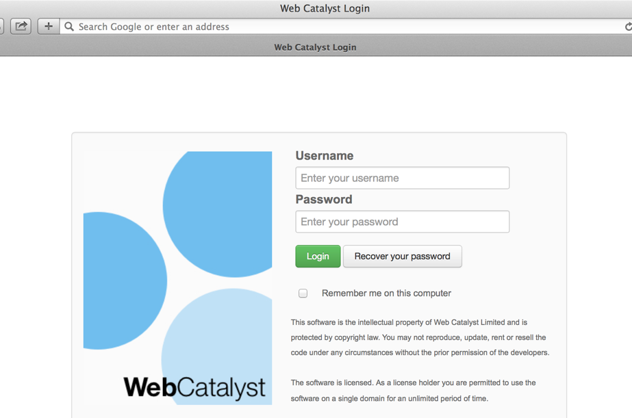 Web Catalyst Case Study