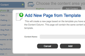 Create new pages from CMS templates