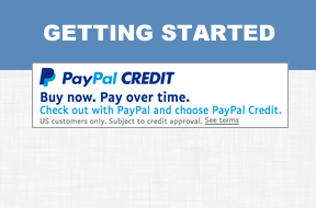 Getting started with PayPal Bill Me Later Banners