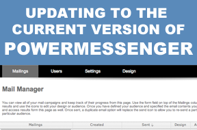 Updating to the current version of PowerMessenger