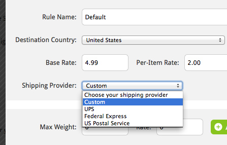 Custom shipping and taxes
