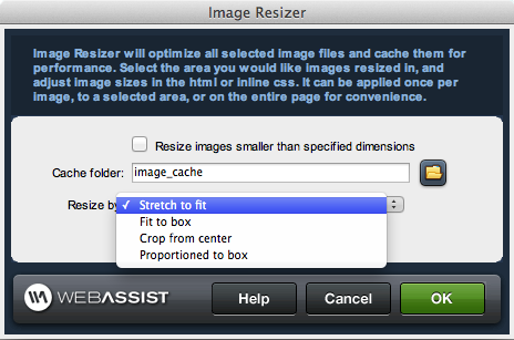 Image Resizer server behavior