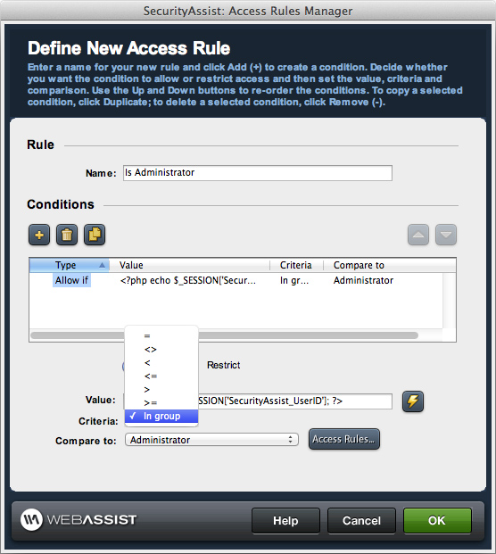 Access Rules Manager
