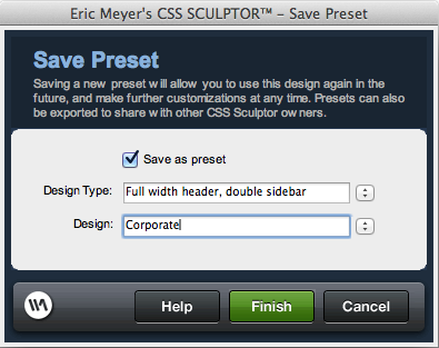 CSS Preset Manager