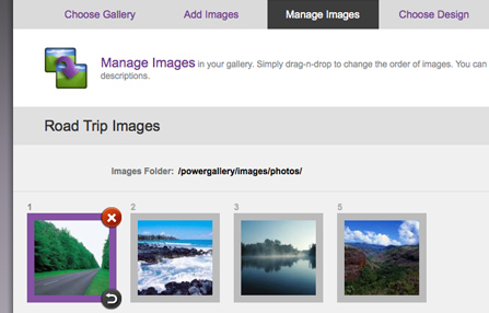 Manage your photo gallery