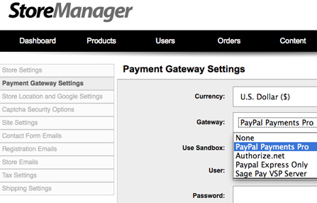 Supported payment gateways